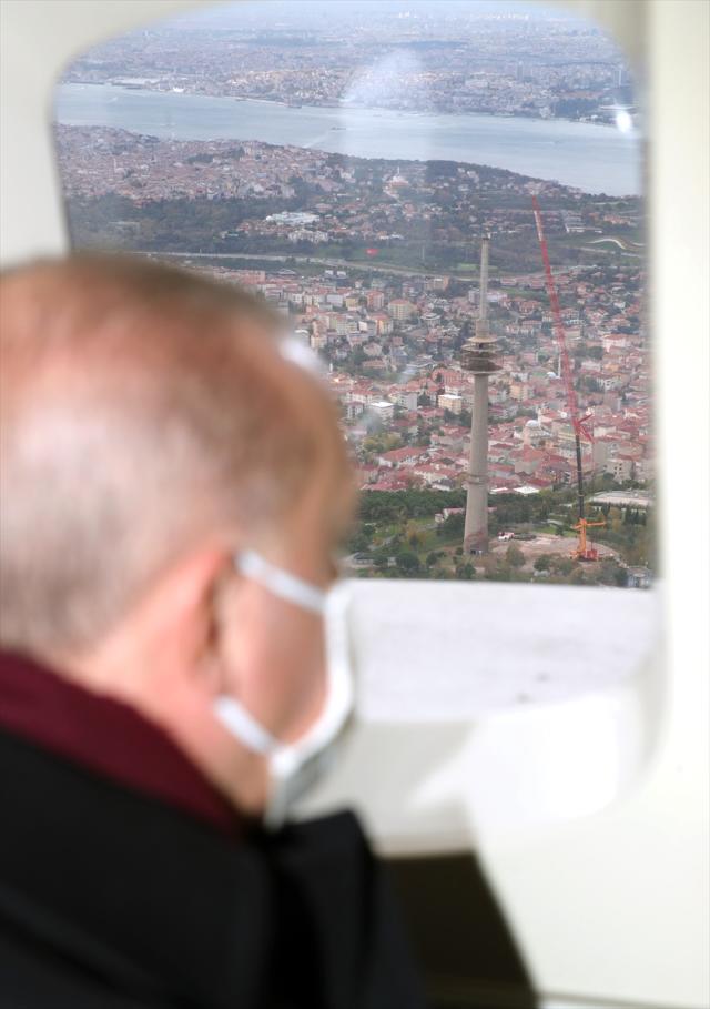 İstanbul'da bir görüntü kirliliği daha ortadan kalkıyor! Cumhurbaşkanı Erdoğan, çalışmaları havadan inceledi
