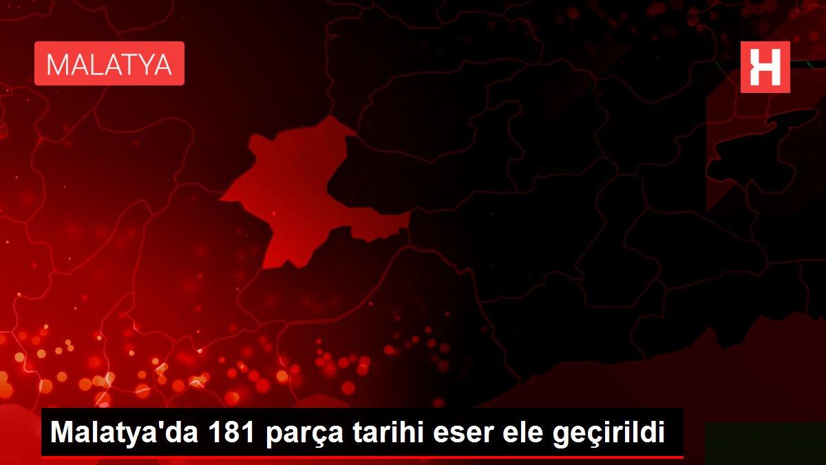 Malatya'da 181 parça tarihi eser ele geçirildi