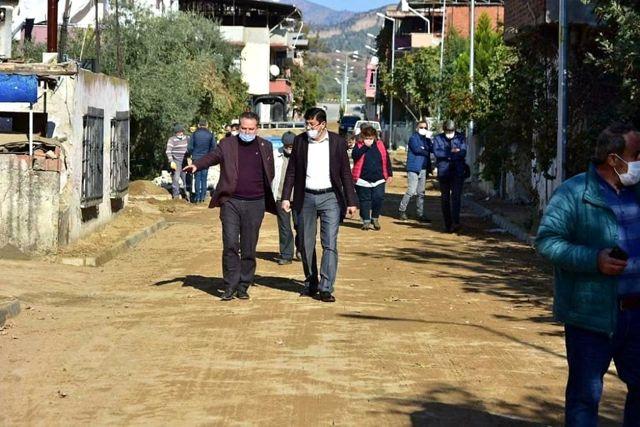 Nazilli Yeşil Mahalle'de yol çalışmaları devam ediyor