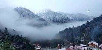 Çamlıhemşin: Kar yağışı yüksek kesimlerde etkili oluyor