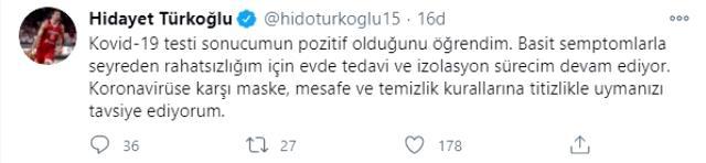 Son Dakika: Türkiye Basketbol Federasyonu Başkanı Hidayet Türkoğlu koronavirüse yakalandı