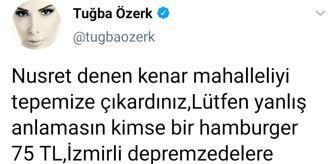 Tuğba Özerk: TUĞBA ÖZERK'TEN NUSRET'E 'KOLPACI' GÖNDERMESİ