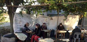 Mersinli: Mersinli kadınlar imece usulü kışlık ekmeklerini pişiriyor