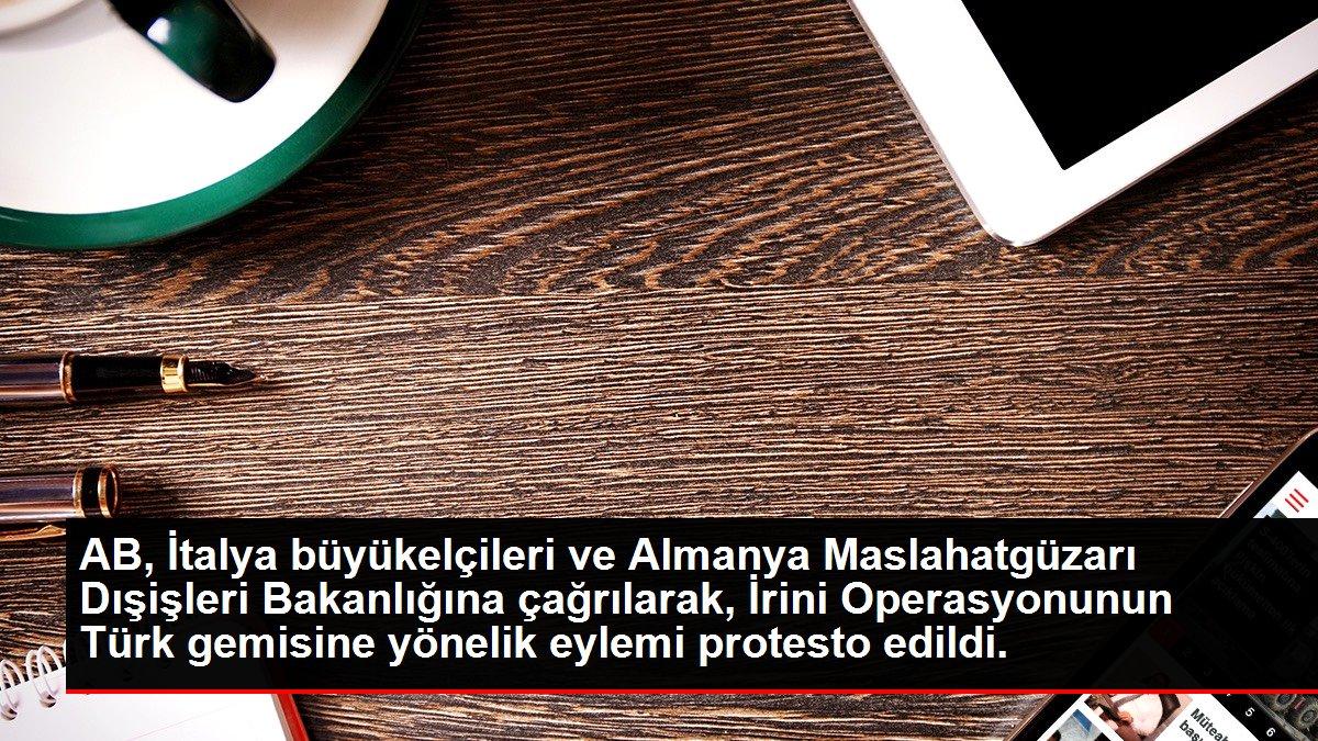 Son dakika haberi: AB, İtalya büyükelçileri ve Almanya Maslahatgüzarı Dışişleri Bakanlığına çağrılarak, İrini Operasyonunun Türk gemisine yönelik eylemi protesto edildi.