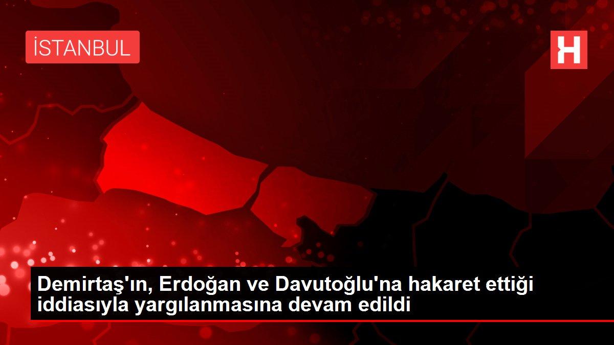 Son dakika haberleri: Demirtaş'ın, Erdoğan ve Davutoğlu'na hakaret ettiği iddiasıyla yargılanmasına devam edildi