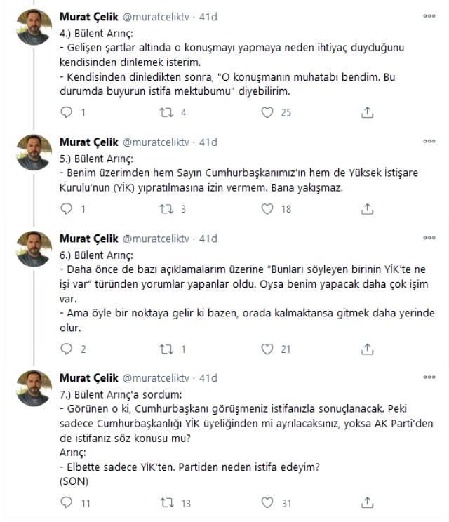 Demirtaş ve Kavala sözeri tepki çeken Bülant Arınç'tan yeni açıklama: Cumhurbaşkanı çok ağır konuştu, rencide oldum