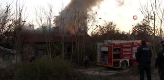 Eskişehir: Metruk binada çıkan yangın korkuttu