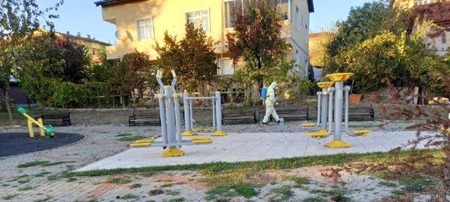 Safranbolu'da dezenfekte çalışmaları sürüyor