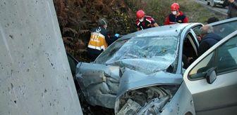 Zonguldak: Sürücüsünün direksiyon hakimiyetini kaybettiği otomobil, istinat duvarına çarptı: 2 ölü, 2 yaralı