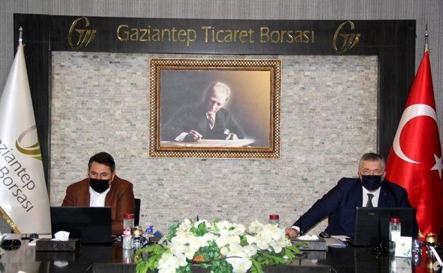 Gaziantep Ticaret Borsası meclisi video konferansla toplandı