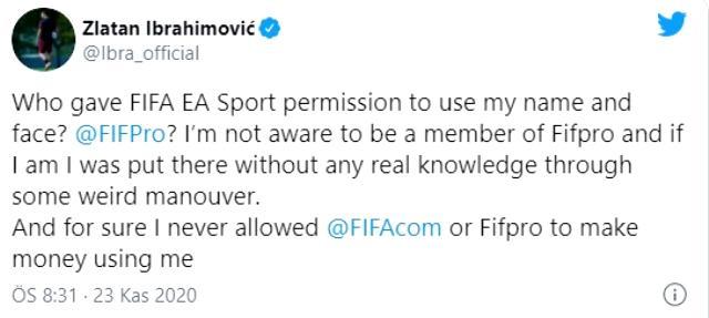 Ibrahimovic, yüzünü kullandığı için video oyunu firmasına ateş püskürdü: Size kim izin verdi!