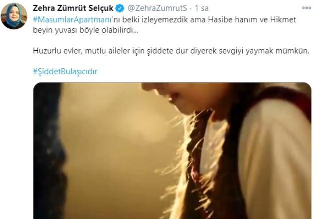 TRT'nin sevilen dizisi Masumlar Apartmanı'nda 'Kadına şiddete dur de' çağrısı
