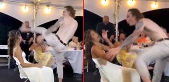 Dans: Yüz binlerce kişi izledi! Düğünde geline yanlışlıkla tekme atan damat TikTok'da viral oldu