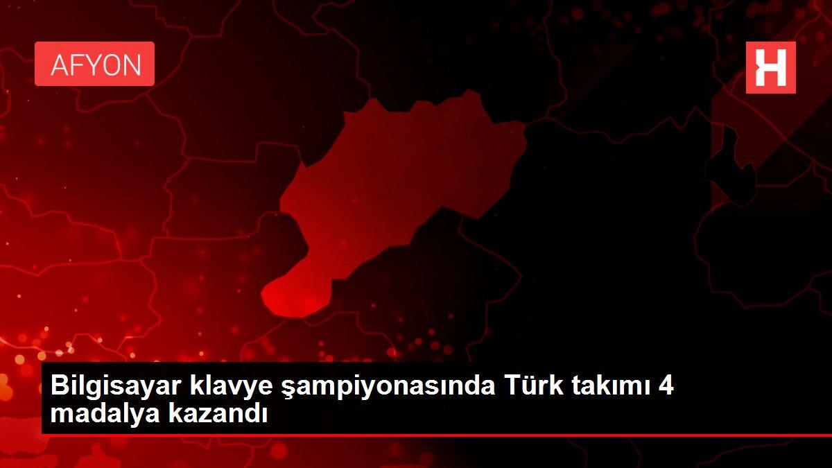 Son dakika haber: Bilgisayar klavye şampiyonasında Türk takımı 4 madalya kazandı