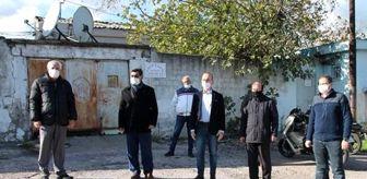 Bandırma: CHP'den genelev önünde basın açıklaması