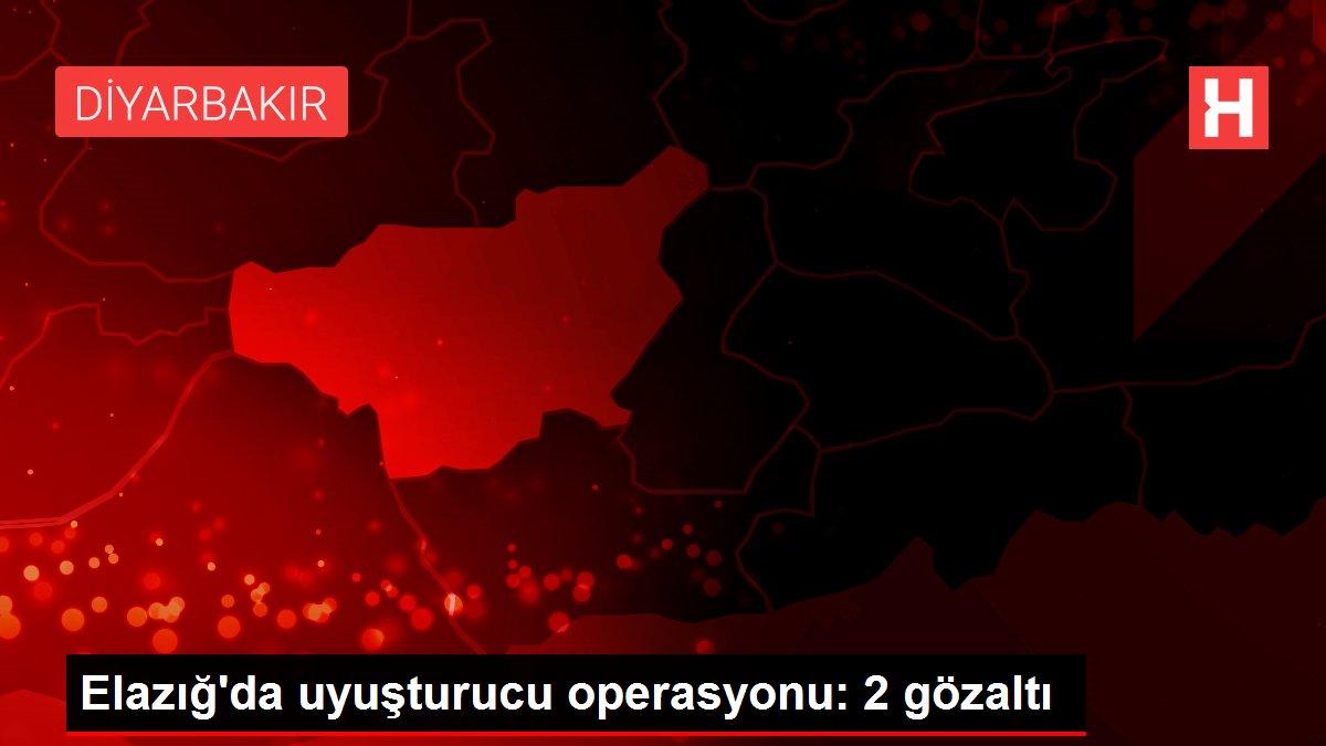 Son dakika haberleri! Elazığ'da uyuşturucu operasyonu: 2 gözaltı