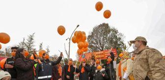 Van: İpekyolu'nda gökyüzüne turuncu balonlar bırakıldı