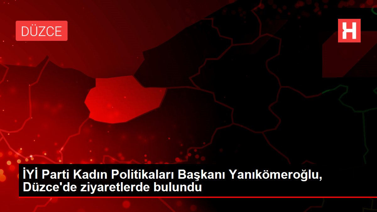 İYİ Parti Kadın Politikaları Başkanı Yanıkömeroğlu, Düzce'de ziyaretlerde bulundu
