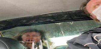 Aksaray: Taksiciyle kadın müşterinin ücret tartışması kamerada