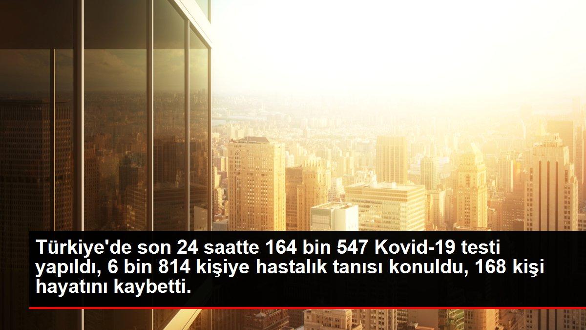 Son dakika haberi: Türkiye'de son 24 saatte 164 bin 547 Kovid-19 testi yapıldı, 6 bin 814 kişiye hastalık tanısı konuldu, 168 kişi hayatını kaybetti.