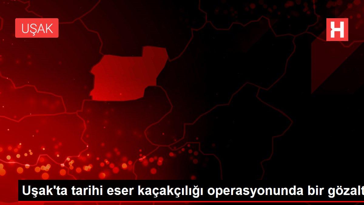Son dakika haberi... Uşak'ta tarihi eser kaçakçılığı operasyonunda bir gözaltı