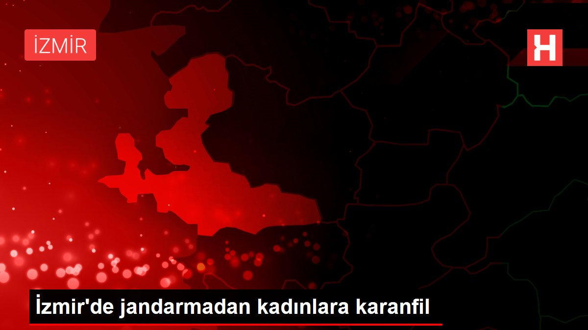 İzmir'de jandarmadan kadınlara karanfil