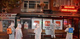 Amasya: Amasya'da 'korona timi' sokakları temizliyor
