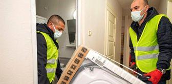 İzmir: Depremzedelere beyaz eşya desteği sürüyor