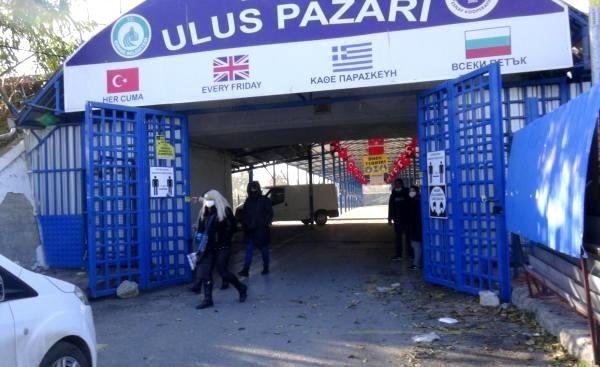 Edirne'nin meşhur Ulus Pazarı kapandı,Bulgar turistler geri döndü
