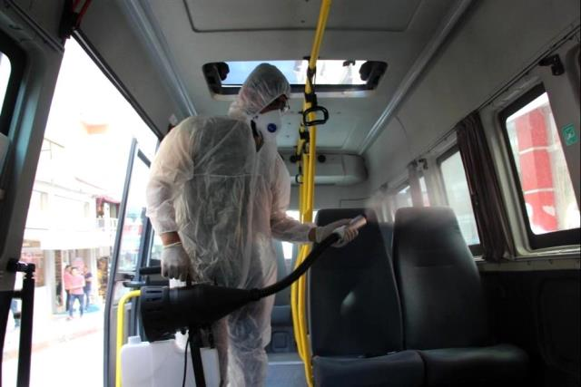 Toplu taşıma araçları 9 aydır her hafta ücretsiz olarak dezenfekte ediliyor