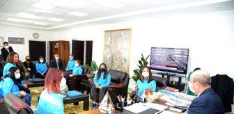 Trabzon: Son dakika haber! 2. lige yükselen kadın hentbol takımı Başkan Ekicioğlu'nu ziyaret etti