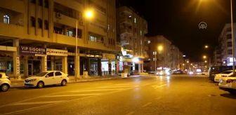 Antalya: Son dakika haberi... Kovid-19 tedbirleri kapsamında sokağa çıkma kısıtlaması başladı (2)