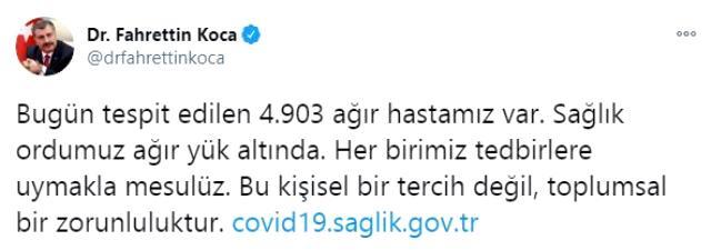 Son Dakika: Türkiye'de 28 Kasım günü koronavirüs nedeniyle 182 kişi vefat etti, 30 bin 103 yeni vaka tespit edildi