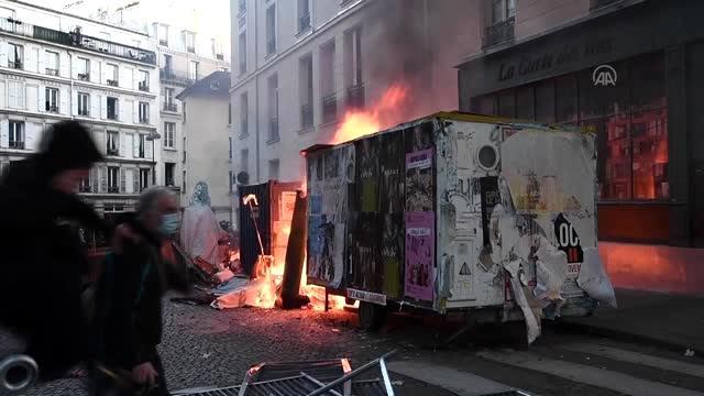 Fransa'da polis şiddeti, halkı sokağa döktü! Çıkan çatışmalarda yaralananlar var