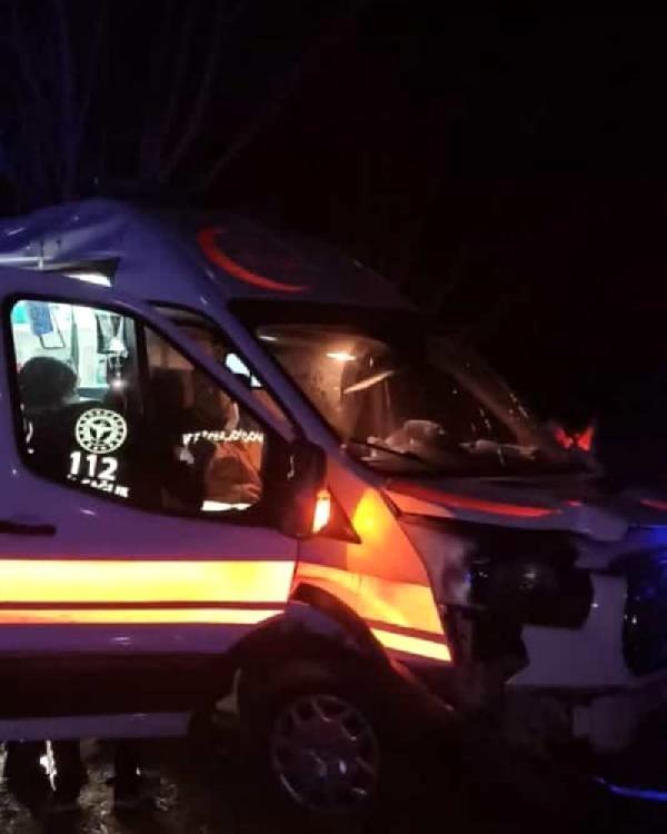Son dakika haberi... Hastaya giden ambulans şarampole devrildi: 2 yaralı