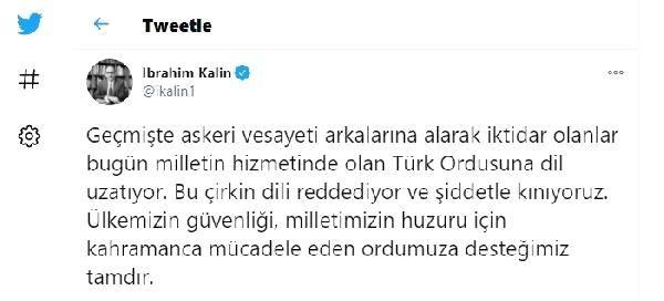 Cumhurbaşkanlığı Sözcüsü Kalın'dan, CHP'li Başarır'ın sözlerine tepki Açıklaması