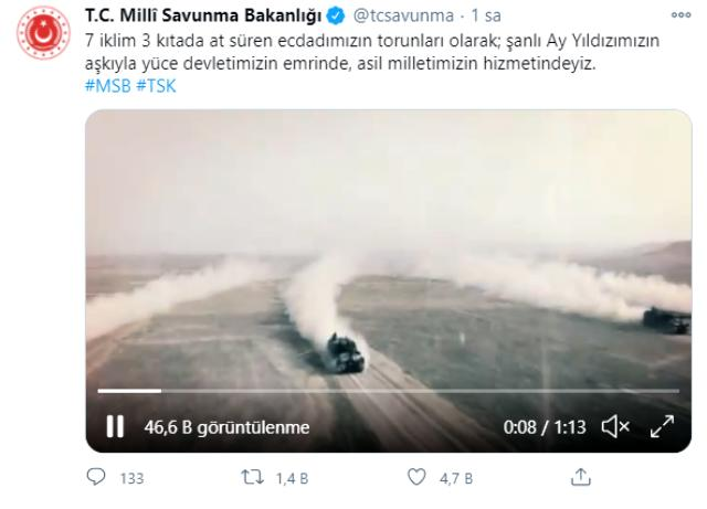 MSB'den CHP'li vekilin 'Türk ordusu satılmıştır' sözlerine videolu gönderme: Asil milletimizin hizmetindeyiz