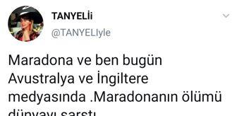 İstanbul: TANYELİ YILLAR ÖNCE GÖBEK ATTIĞI MARADONA SAYESİNDE DÜNYA BASININA KONU OLDU