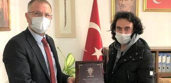 Kütahya: Başkan Ceyhun'dan Türkel'e teşekkür plaketi