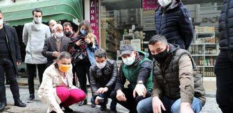 Fatma Kaplan Hürriyet: Fethiye Caddesinde doğal taş zemini uygulanıyor