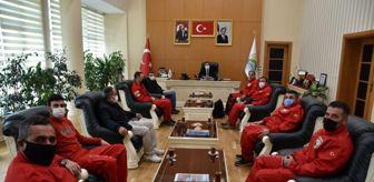 Bitlis: AKUT'tan Başkan Geylani'ye ziyaret