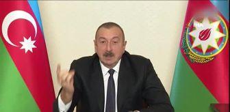 İşgal: - Azerbaycan Cumhurbaşkanı Aliyev, ulusa seslendi- Azerbaycan Cumhurbaşkanı İlham Aliyev: - 'Zafer kazanarak, düşmanın kafasını ezerek, düşmanı...