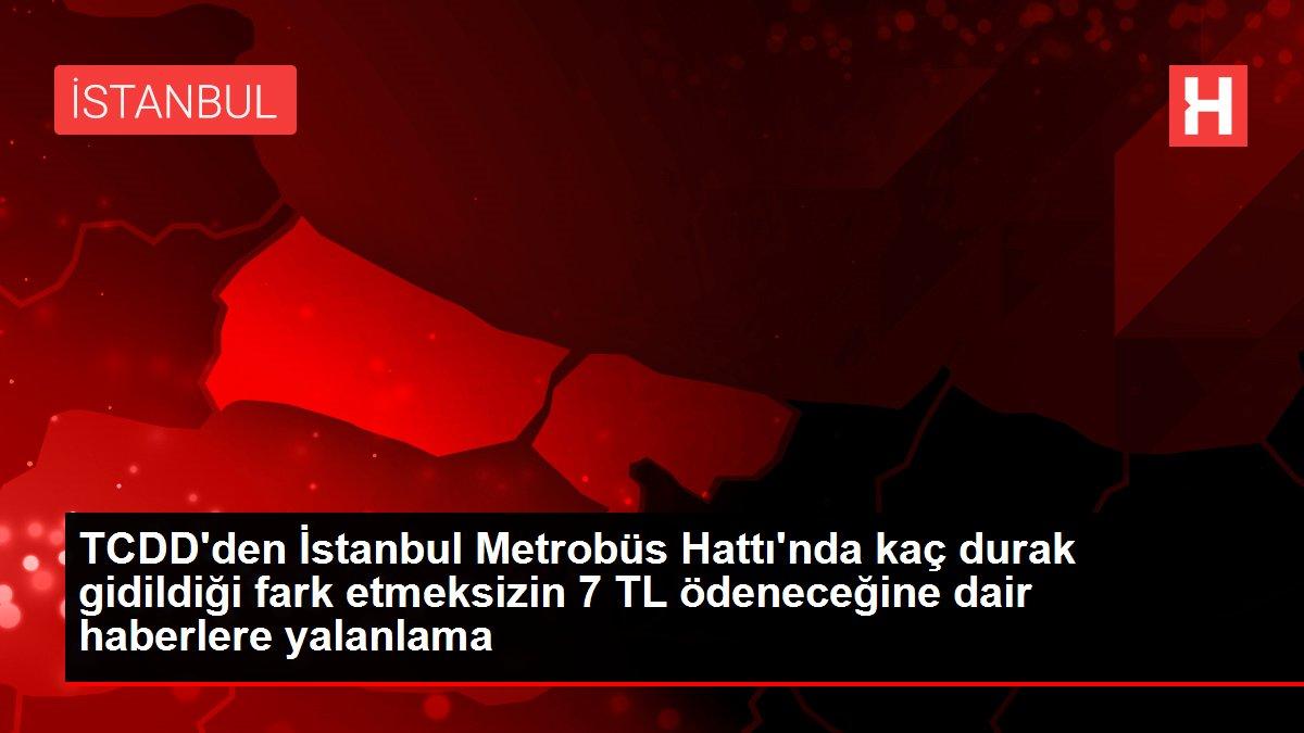 TCDD Taşımacılık AŞ'den Marmaray'daki fiyatlandırma iddialarına ilişkin açıklama Açıklaması