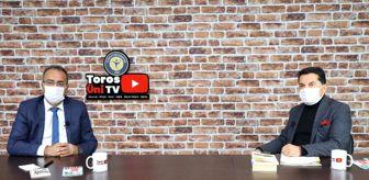 Mersin: Akdeniz Kent Konseyi Başkanı Mustafa Erim Toros Üni TV'nin konuğu oldu