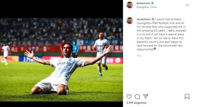 Beşiktaş'a döneceği konuşulan Tosc, Guangzhou ile yollarını ayırdı