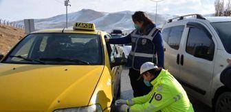 Kars: Son dakika haber... Erzurum'da kış lastiği denetimi