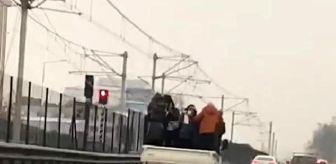 Bursa: Kamyonetteki 6 kişinin tehlikeli yolculuğu kamerada