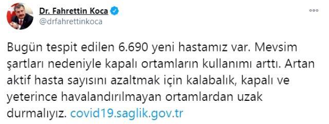 Son Dakika: Türkiye'de 2 Aralık günü koronavirüs nedeniyle 193 kişi vefat etti, 31 bin 923 yeni vaka tespit edildi