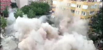 Antalya: Alanya'da apartman yıkımı sırasında operatör enkaz altında kalma tehlikesi geçirdi