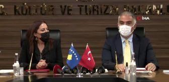 Ankara: Son dakika haber... Bakan Ersoy: 'Sinema ve dizi sektörü Türkiye'de çok gelişmiş durumda, özellikle dizi filmler konusunda dünyada Amerika'dan sonra en büyük dizi-film...